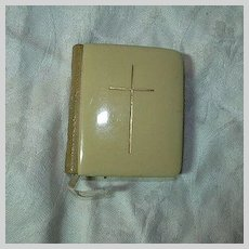 Miniature Book Of Common Prayer Celluloid & Leather