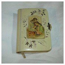 Old German Celluloid Cover Art Prayer Book
