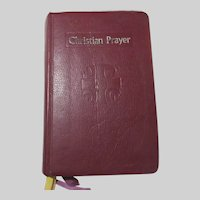 Christian Prayer Liturgy of the Hours 1976 Prayer Book