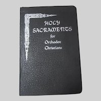 Holy Sacraments for Orthodox Christians Romanian Orthodox Religious Book