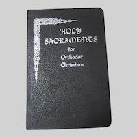 Holy Sacraments for Orthodox Christians Romanian Orthodox Religious Book