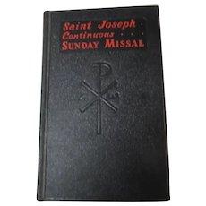Saint Joseph Continuous Sunday Missal 1958