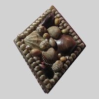 Old English Shell Covered Paper Mache Small Box Shells Art