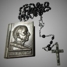 Pope Pius II Rosary Case With Older Rosary