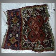 Old  Persian Oriental Rug Half Bag Quashkai Kashquai Wool Weaving