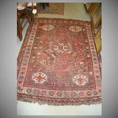 Persian Oriental Rug  Vintage Carpet