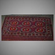 Antique Turkoman Tekke Persian Oriental Rug Carpet