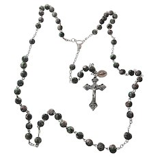 Cloisonne Beads Rosary Italy With Miraculous Medal