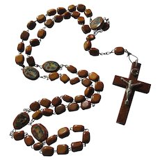 Wood Beads Rosary Our Lady Guadalupe Virgin Mary