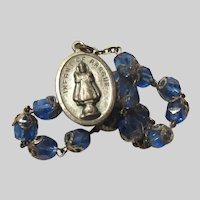 Jesus Infant of Prague Medal Blue Chaplet Rosary Sacred Heart