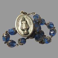 Jesus Infant of Prague Medal Blue Chaplet Rosary Sacred Heart