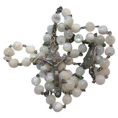 Mother of Pearl Rosary 800 Silver