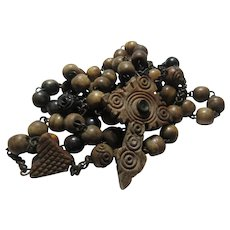Rosary Brown With Very Old Stanhope Cross