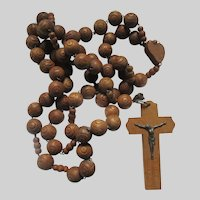 Huge Wall Wood Rosary Lourdes France French Souvenir