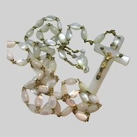 Mother of Pearl  Rosary With MOP Crucifix