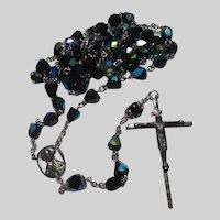 Fine Iridescent Large Glass Beads Rosary Prayer Beads