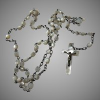 Very Small Old Mother Of Pearl Rosary