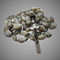 French Mother of Pearl Rosary Large Beads