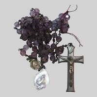 Purple Glass Crystal Beads Rosary