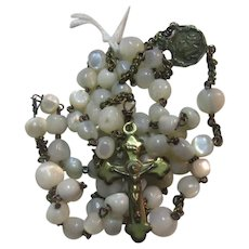Mother of Pearl Rosary Virgin Mary Center With Crown