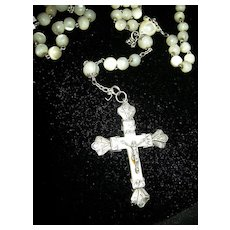 Antique MOP Mother Of Pearl Rosary