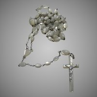 Mother of Pearl MOP Rosary French Prayer Beads