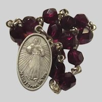 Sister Faustina Jesus Divine Mercy Medal Chaplet Rosary