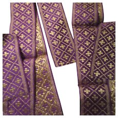 Religious Trims From Old Priests Vestments Crosses