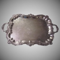 "Towle Silverplate Silver Large Footed Vintage Tray 29"" Long"