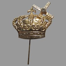 Religious Stick Medal  Pin Holy Ghost Cross Crown