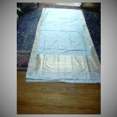 Blue Pure Silk Sari With Silver