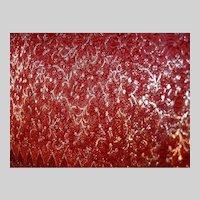 KEEP  Red Gold Brocade Silk Satin Sari Fine Fabric India