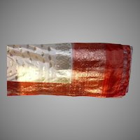 White Pure Silk Sari With Red Pallou and Border With Silver Fine Fabric India