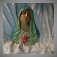 Virgin Mary Madonna Immaculate Heart Wall Plaque Statue