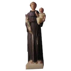 St Anthony Infant Jesus Figurine Statue