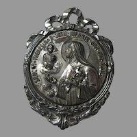 St Therese of Infant Jesus Metal Old Medallion Medal Saint