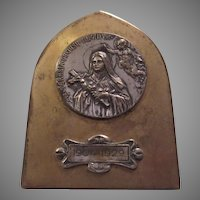 St Therese Medallion Large Medal Easel Back Plaque Icon