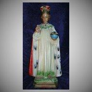Large Infant of Prague Statue Fine Catholic Christian Jesus Figurine Sacramental