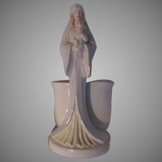 Virgin Mary Infant Jesus Statue Figurine Planter Vase