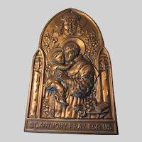 St Anthony House Blessing Plaque Prayer On Back