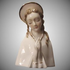 Virgin Mary Madonna Head Statue Figurine