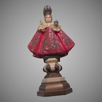 Italian Jesus Infant of Prague Unusual Figurine Religious Statue