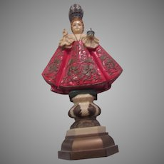 Italian Jesus Infant of Prague Unusual Figurine Religious Statue