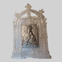 Virgin Mary Our Lady Perpetual Help Medal On Plastic Easel