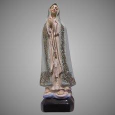 Virgin Mary Madonna Small Statue Figurine Chalk Ware