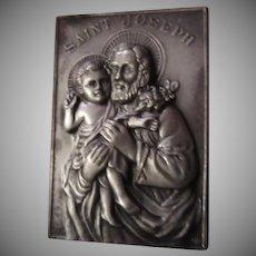St Joseph Pocket Icon Medallion In Case With Prayer