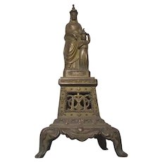 French Statue St Anne Virgin Mary Metal