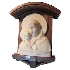 1954 St Anthony Wall Figure Plaque