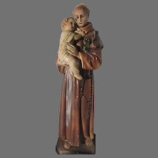 St Anthony Infant Jesus Statue Large Figurine