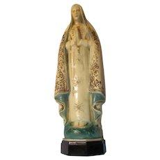 Virgin Mary Figurine Statue Rosary Case Holder